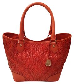 Cole Haan Genevieve Like New! Woven Leather Serena Weave Satchel Hobo Handbag Spicy Orange / Red Orange Brown / Golden Brown Tote Bag. Get one of the hottest styles of the season! The Cole Haan Genevieve Like New! Woven Leather Serena Weave Satchel Hobo Handbag Spicy Orange / Red Orange Brown / Golden Brown Tote Bag is a top 10 member favorite on Tradesy. Save on yours before they're sold out! GORGEOUS!!! MINT CONDITION!!! BEAUTIFUL LEATHER AND WOVEN DESIGN!!! RARE!!! SALE!!! WOW!!!