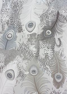 Silver Leopardo Wallpaper - Wallpaper - Matthew Williamson