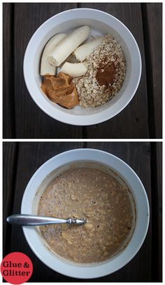 I'm jumping on the overnight oatmeal bandwagon with a six-ingredient overnight oats recipe that's so, so decadent. It tastes like oatmeal cookies, y'all. (Ingredients In A Jar Overnight Oatmeal) Best Smoothie, Overnight Oats In A Jar, Peanut Butter Overnight Oats, Vegan Recipes, Cooking Recipes, Peanut Butter Banana, Almond Butter, Meals In A Jar, Oatmeal Recipes