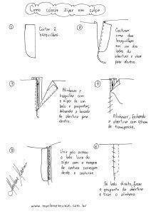como colocar zíper em calça