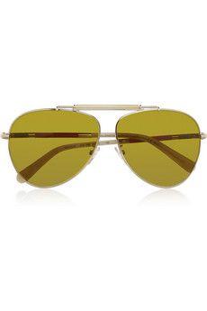 a2ed5222ce Balenciaga Aviator-style metal sunglasses