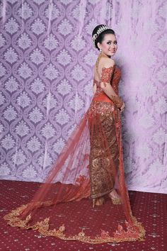Red Kebaya & Make Up By Nanin Fadlan