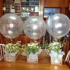 Greenery Baby Shower Centerpieces For A Gender Neutral Baby Shower - VCDiy Decor And Balloon Centerpieces, Baby Shower Centerpieces, Bridal Shower Decorations, Balloon Decorations, Table Decorations, Masquerade Centerpieces, Baptism Decorations, Centerpiece Ideas, Wedding Centerpieces