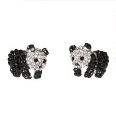 "Crystal Panda Bear Stud Earrings $14.99These adorable baby panda bears earrings are adorned with beautiful black and clear crystals. Each measures 0.75"" in height and 0.8"" in width, and they arrive in a gift box making them perfect to give to a loved one, or for you to wear yourself of course :)             [fbcomments]"