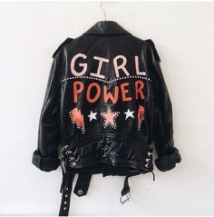 She could't wait to go back and wear again her favorite leather jacket with the feminist logo in the back. Go Feminin, Thalia Grace, Inspiration Mode, Fashion Inspiration, Girl Gang, Mode Style, Girl Power, Feminism, Ideias Fashion