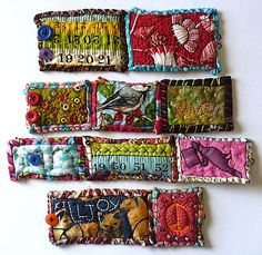 Wouldn't this technique look incredible as potholders? It's functional art that would make me smile every night, when I make dinner.