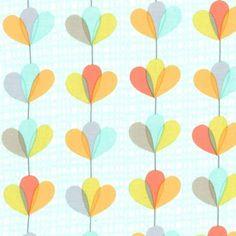 petal garland ブルーファブリック生地 ミッドセンチュリー コットン100%シーチング - マイケルミラー 生地 ファブリック | キルト生地のマイケルミラー.jp