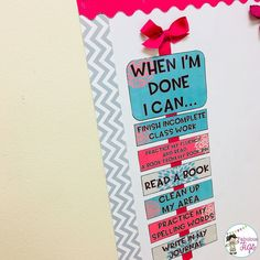 chart has been a game changer in my classroom. I started using this a couple of years ago and my student's ongoing questions and… Middle School Classroom, First Grade Classroom, Classroom Setup, Classroom Design, Kindergarten Classroom, Classroom Organization, Future Classroom, Classroom Management, Class Management