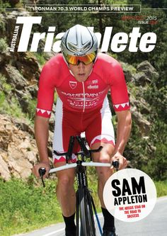 Australian Triathlete Magazine - Sept/Oct 2015. Click to access a free copy of the magazine. In this edition we catch up with rising star Sam Appleton. Follow Mum2Athletes on ISSUU to keep up to date with the latest Triathlon Magazines as they become available for FREE online at https://issuu.com/mumathletes/stacks/. Other magazines also available under Swimming, Cycling and Running.