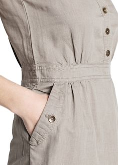 Vestido camisero lino y algodón