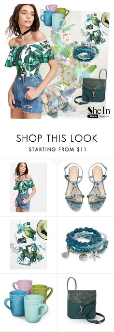 """Shein bodysuit"" by irinavsl ❤ liked on Polyvore featuring Erica Lyons, Boho Boutique and Steve Madden"