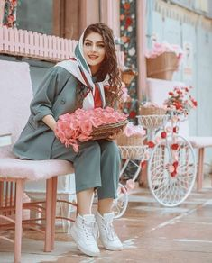 Modest Fashion Hijab, Muslim Fashion, Fashion Outfits, Teenage Girl Photography, Photography Poses Women, Stylish Girls Photos, Stylish Girl Pic, Persian Girls, Iranian Women Fashion