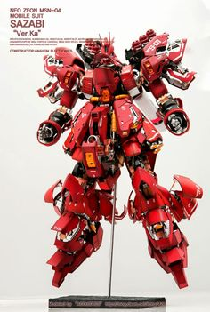 GUNDAM GUY: MG 1/100 Sazabi Ver. Ka 'Open Hatch' - Custom Build