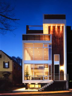 3611 R Street, Washington, DC- designed by Ita Design Modern Contemporary Homes, Contemporary Architecture, Modern Design, Residential Architecture, Architecture Design, My Dream Home, Future House, Washington Dc, House Styles