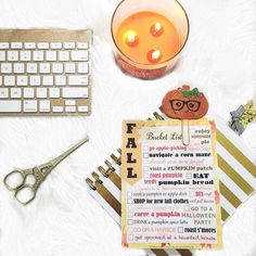 Just made a fall bucket list ! And I made a printable that's available at www.kkprintables.com - I made both plain ones and a filled in one like the one in the picture.  I'm so excited for fall ! And the first day of Autumn is tomorrow !  by karolinaskrafts