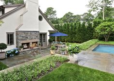 Wireless Road   Tennis Court Gardens   Stone Walls and Steps   Masonry Work Long Island   East End Landscape Projects