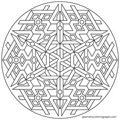 Coloring Page, Triplex from geometrycoloringpages.com