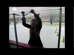 Stephanie Taylor ice skates for the first time