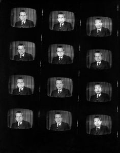 Nov. 6, 1972: President Nixon on television on the eve of the  presidential election. Unable to photograph Nixon in person, the enterprising Times photographer shot TV screens instead. Photo: Tyrone Dukes/The New York Times