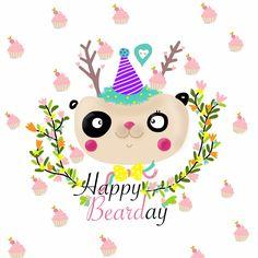 happy birthday , bear , panda