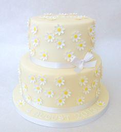 Daisy Christening Cake 07917815712 www.fancycakesbylinda.co.uk www.facebook.com/fancycakeslinda