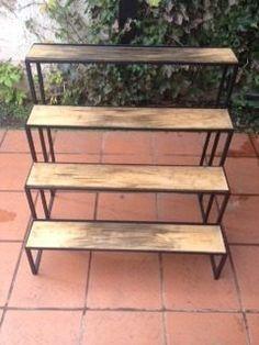 Porta-macetas De Hierro A Medida Tipo Escalera 4 Escalones - $ 900,00