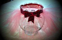 Tutu Centerpiece  Light Pink and Zebra by DesignsByLizzyD on Etsy, $10.00
