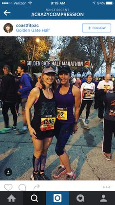 Crazy compression Pixel Dots sleeves taking our girl through the Golden Gate Marathon!!!  #crazyclan #crazycompression  www.crazycompression.com