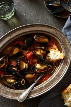 Saffron, Smoked Paprika, and Heirloom Tomato Mussels More