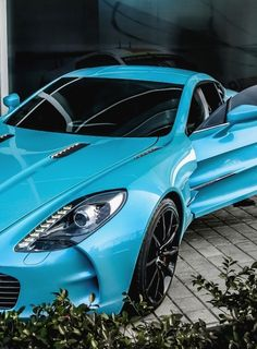 Beautiful Tiffany Blue Aston Martin One-77