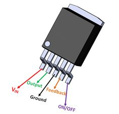 LM2576 Pinout Simple Electronics, Electronics Basics, Power Electronics, Electronics Components, Electronics Projects, Arduino Circuit, Dc Circuit, Circuit Diagram, Electronic Recycling