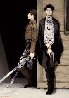 Shingeki no Kyojin (Attack on Titan) Eren and Levi