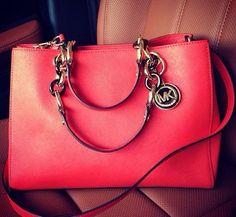 Coral Michael Kors Bag