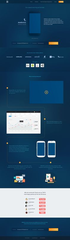 .Cool Minimaliist Blue Web design