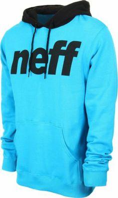 New Mens Neff Standard Hoodie Large Cyan