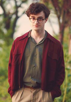 "Daniel Radcliffe on the set of ""Kill Your Darlings"""