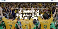The story of #Australia and the World Cup is one of triumph and despair. The Guardian charts the Socceroos' story across the years in this #immersive created with Shorthand.