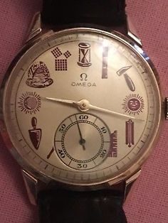 554aac62b90 Solid Gold Omega Sub-Second Gents Vintage Watch