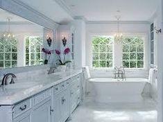 Image result for white master bathroom