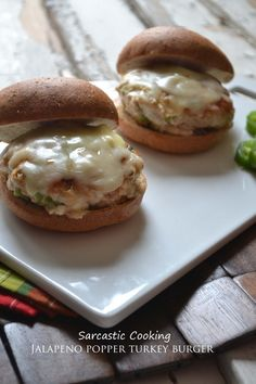 Jalapeno Popper Turkey Burgers...Yum I love Spicy Food, can't wait to make these on the new GRILL!
