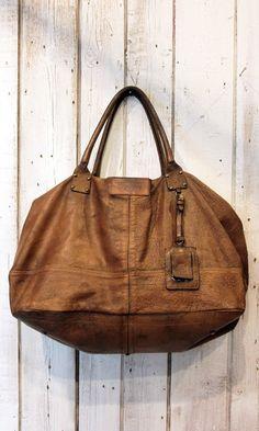 Handmade Italian Vintage Brown Leather by LaSellerieLimited