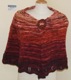 Stand out in this outstanding shawl: Rheinbeck by Martina Munroe.