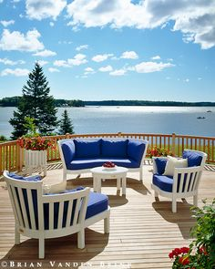 Design: Weatherend Estate Furniture....coastL Living in Maine