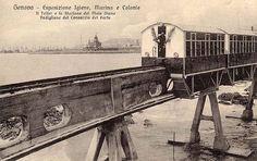 GENOVA - Telfer, collegamento fra molo Giano e Esposizione 1914 - FOTO STORICHE CARTOLINE ANTICHE E RICORDI DELLA LIGURIA