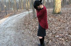See Eunny Knit!: Fire Flowers and Leaves Shawl