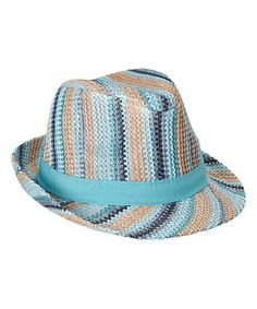 042a36ec34dc4 Look at this Blue Stripe Fedora on  zulily today! Tocados