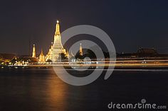 Temple of Dawn or Wat Arun. The famous  Buddhist temple in Bangkok, Thailand.