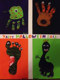 The kids had a great time making this! They were so proud to be a part of making halloween decor.