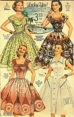 Florida Fashions from the 1950s