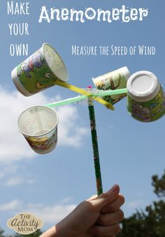 Science Experiments at Home - Make a DIY Anemometer
